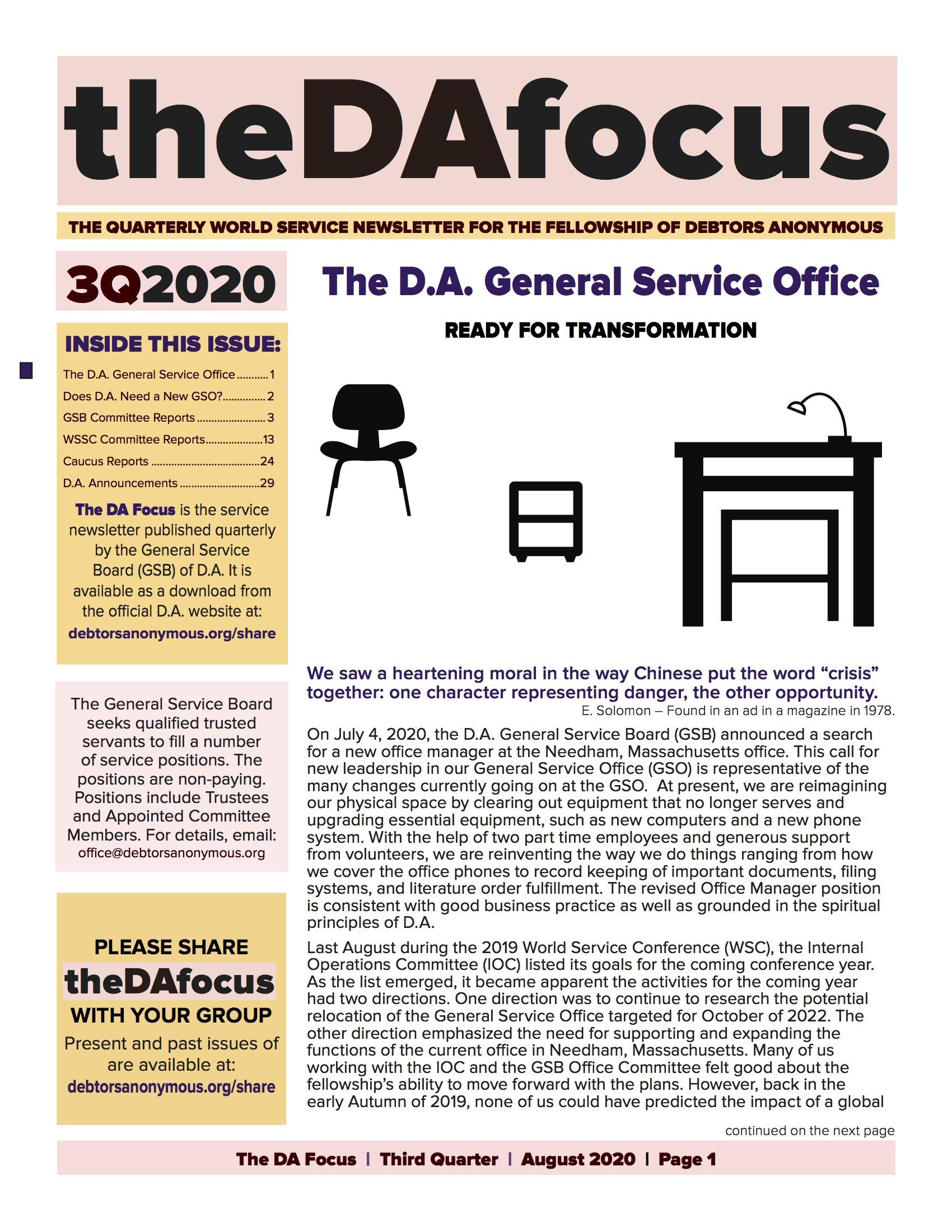 DA Focus August 2020