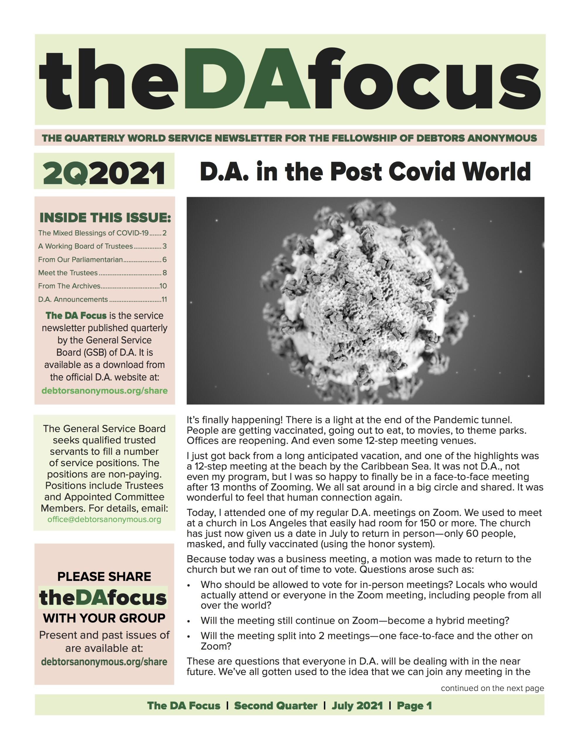 DA Focus July 2021