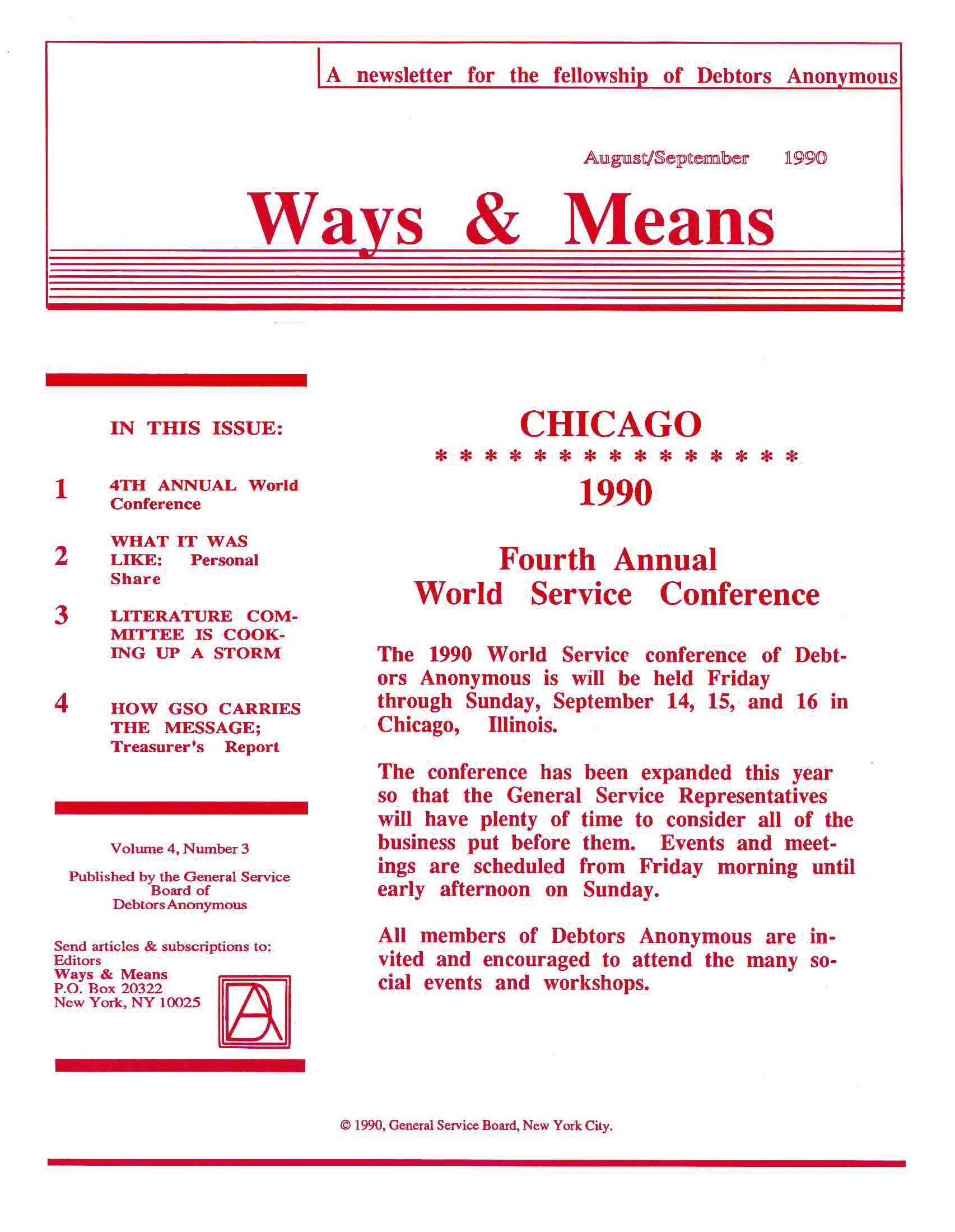 Ways & Means 3rd QTR 1990