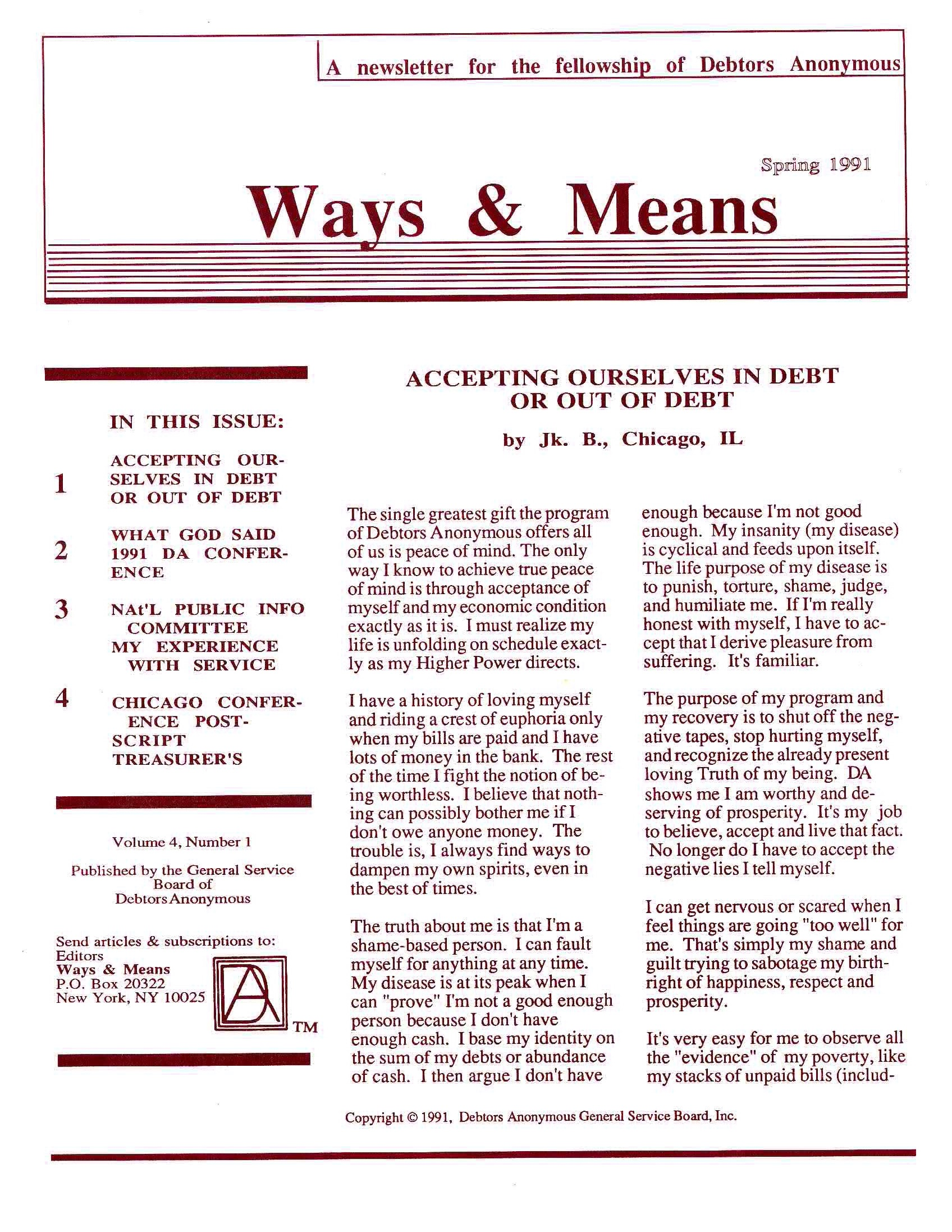 Ways & Means 2nd QTR 1991