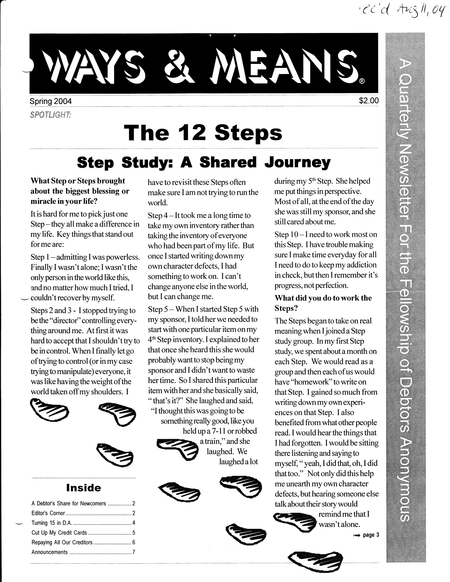 Ways & Means 2nd QTR 2004