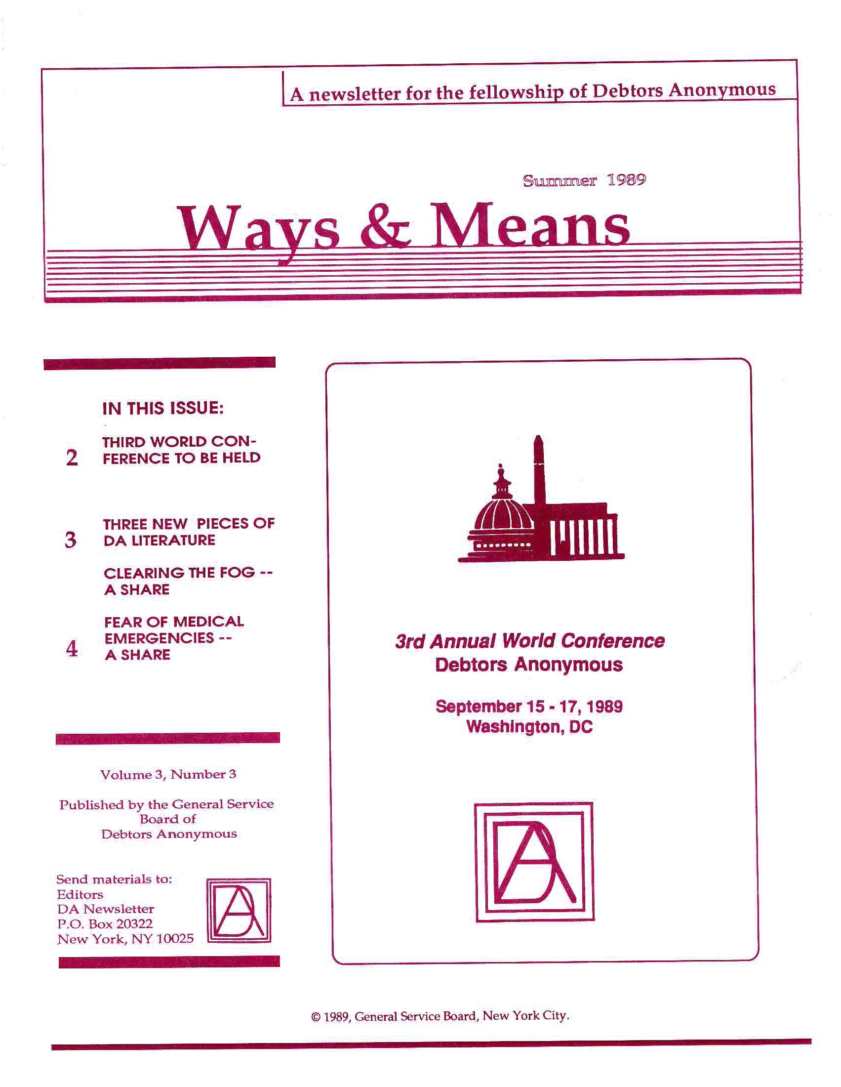 Ways & Means 3rd QTR 1989