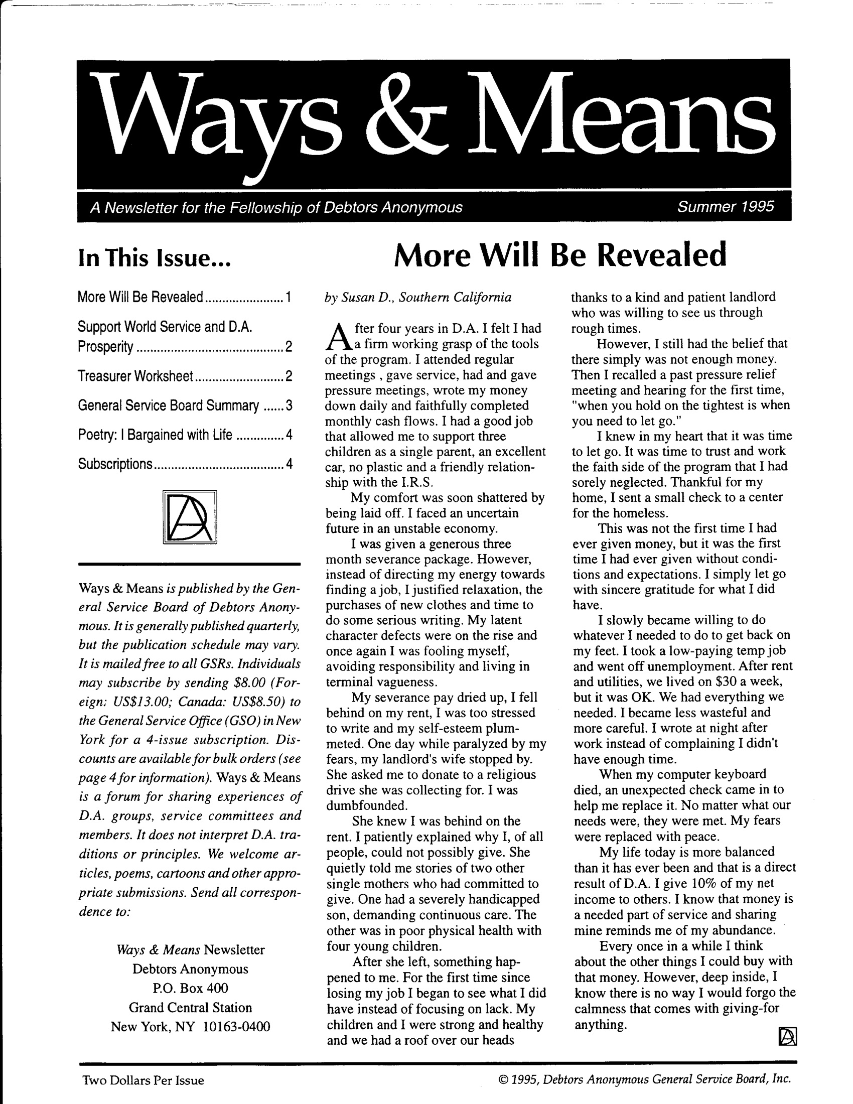 Ways & Means 3rd QTR 1995