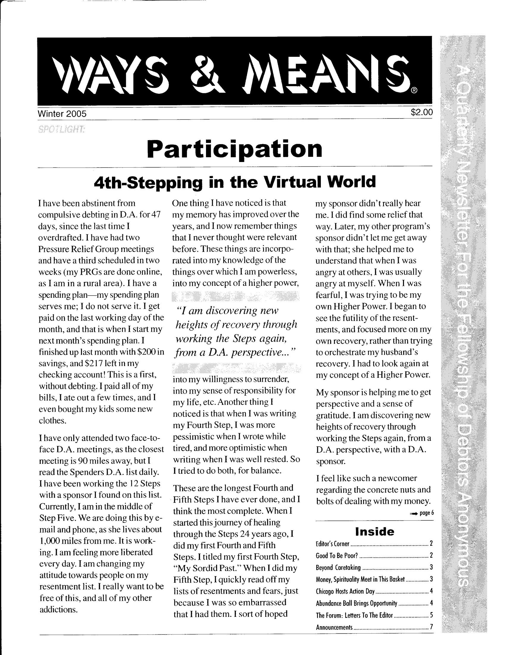 Ways & Means 1st QTR 2005