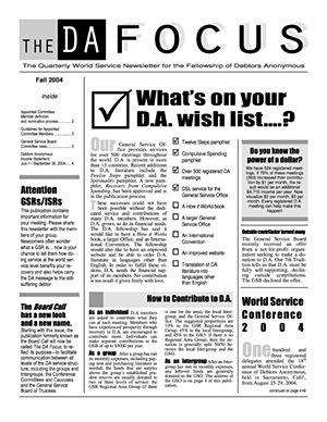 DA Focus Fall 2004