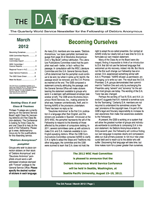 DA Focus March 2012