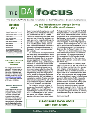 DA Focus October 2012