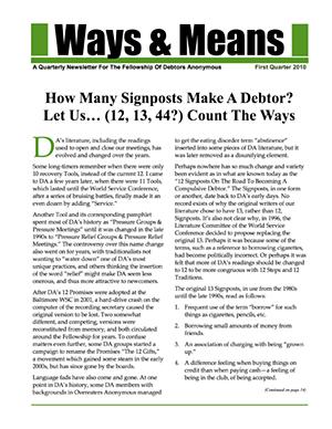 Ways & Means 1st QTR 2010