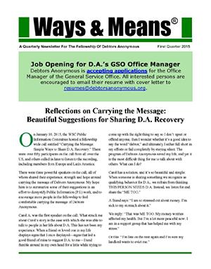 Ways & Means 1st QTR 2015