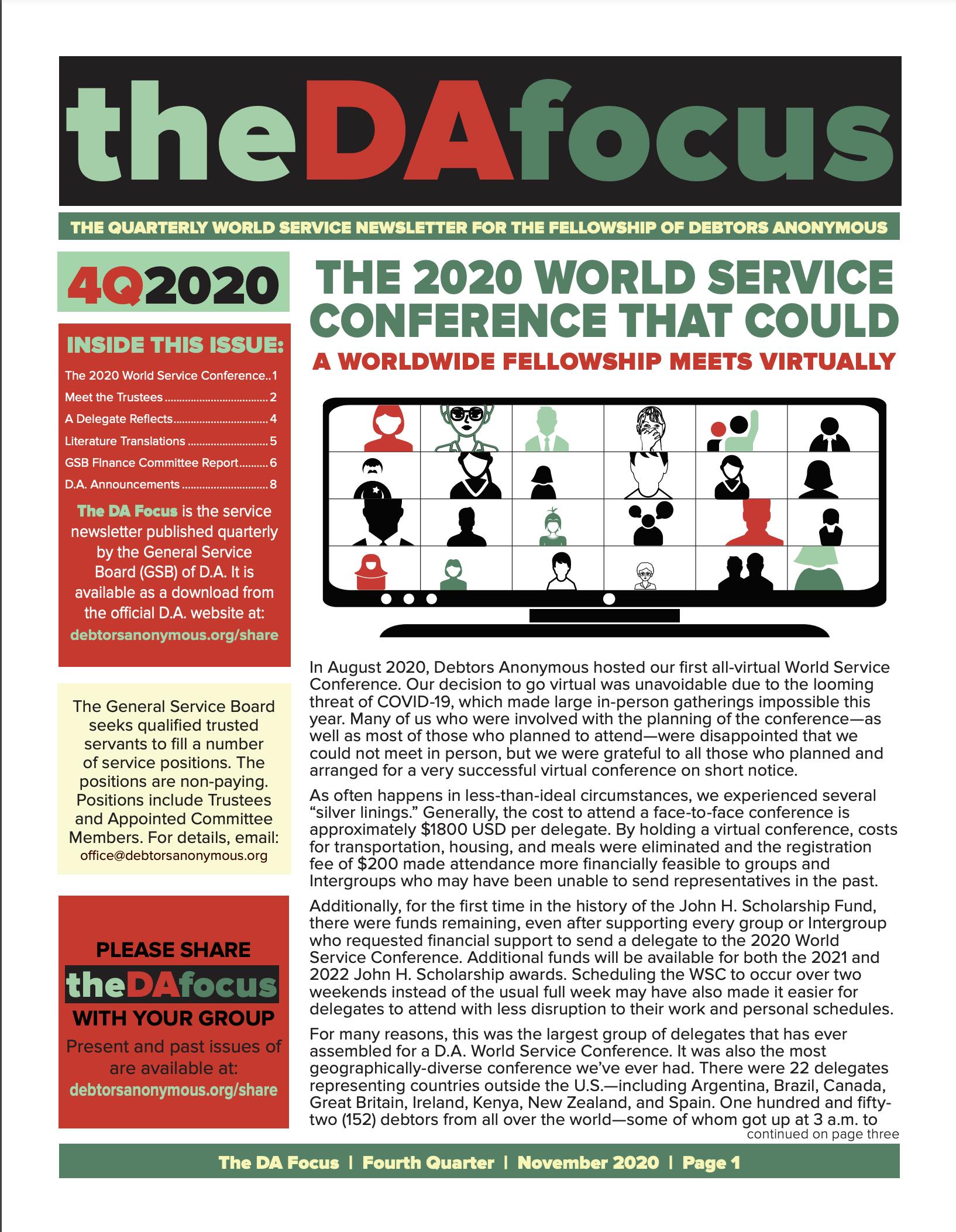 DA Focus November 2020